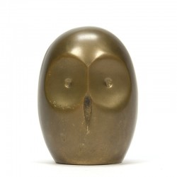 Abstract vintage brass owl