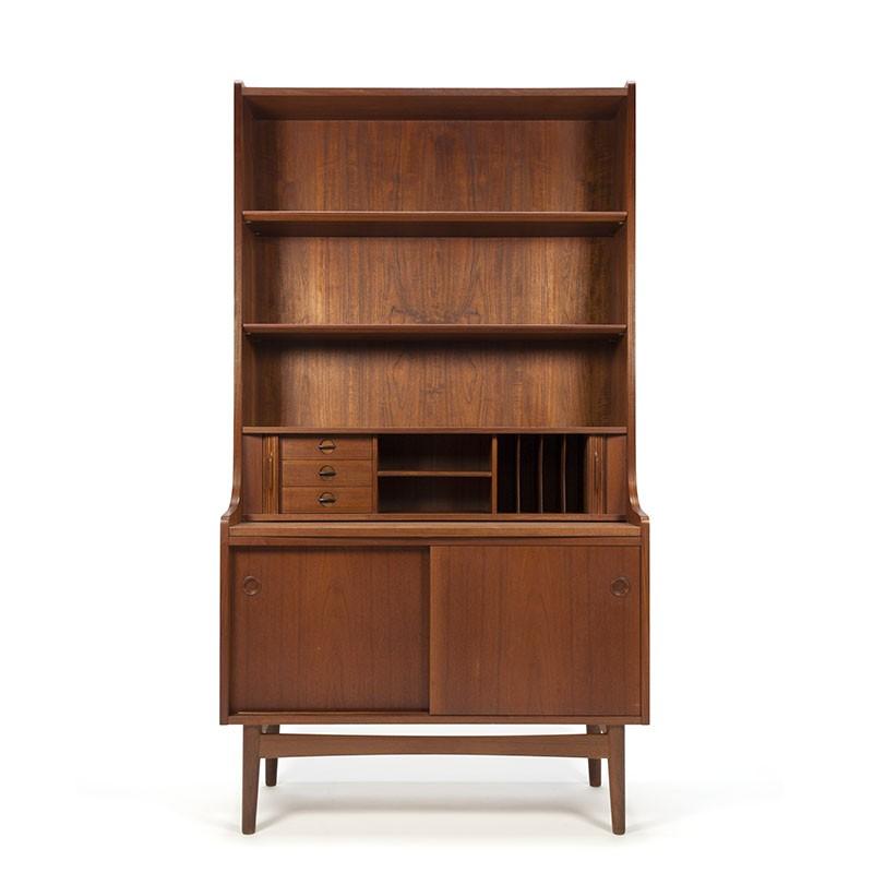 Teakhouten vintage boekenkast design Johannes Sorth