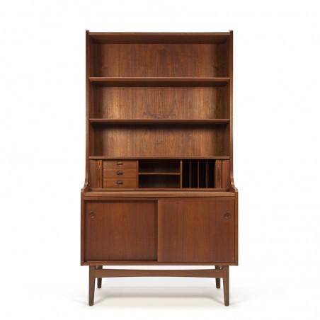 Teak vintage bookcase design Johannes Sorth