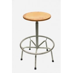 Industrial stool beech