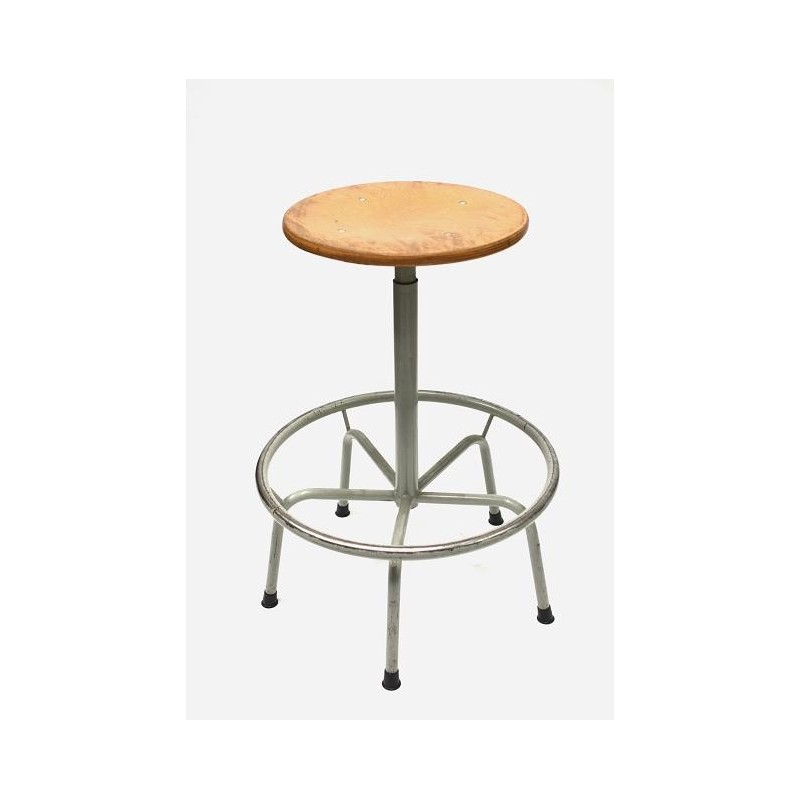 Industrial stool beech