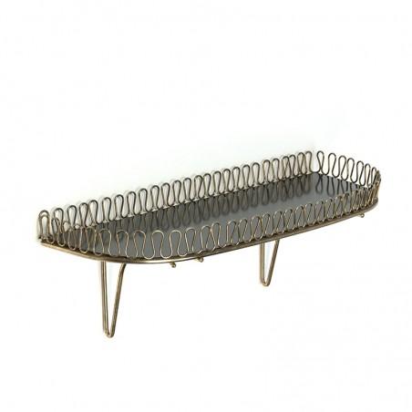 Sixties vintage brass shelf