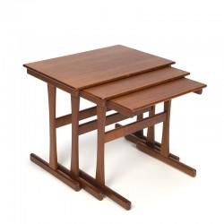 Set of 3 vintage Danish design nesting tables