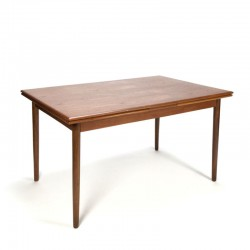 Teak Danish vintage extendable dining table