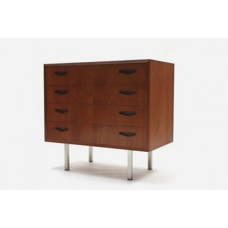 Small teak chest of drawers