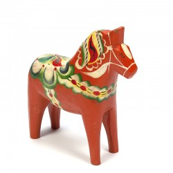 Swedish vintage red Dala horse design Nils Olsson