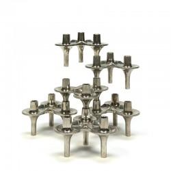 Vintage set of 6 stackable Orion candlesticks design F. Nagel