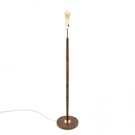 Vintage rosewood floor lamp from Denmark
