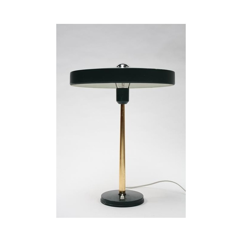 Philips table lamp by Louis Kalff green