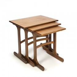 Vintage teak set of 3 nesting tables