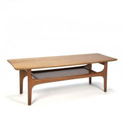 Sixties vintage coffee table double layer