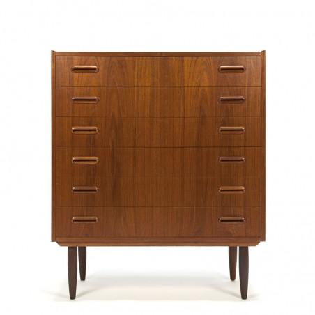 Vintage Danish dresser in teak with 6 drawers
