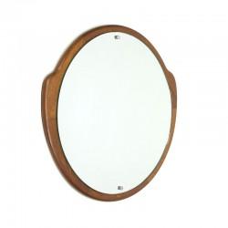 Vintage round model mirror with teak edge