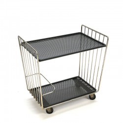 Metal vintage bar cart from the sixties
