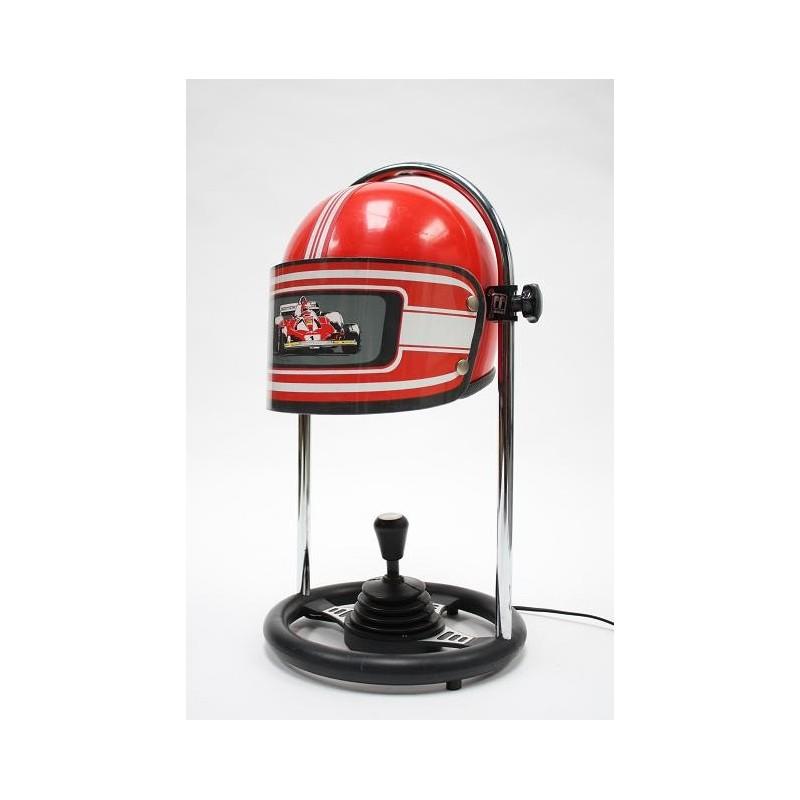 Race helmet table lamp by FF Leuchten