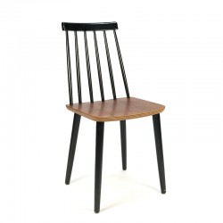 Vintage teak with black bar chair