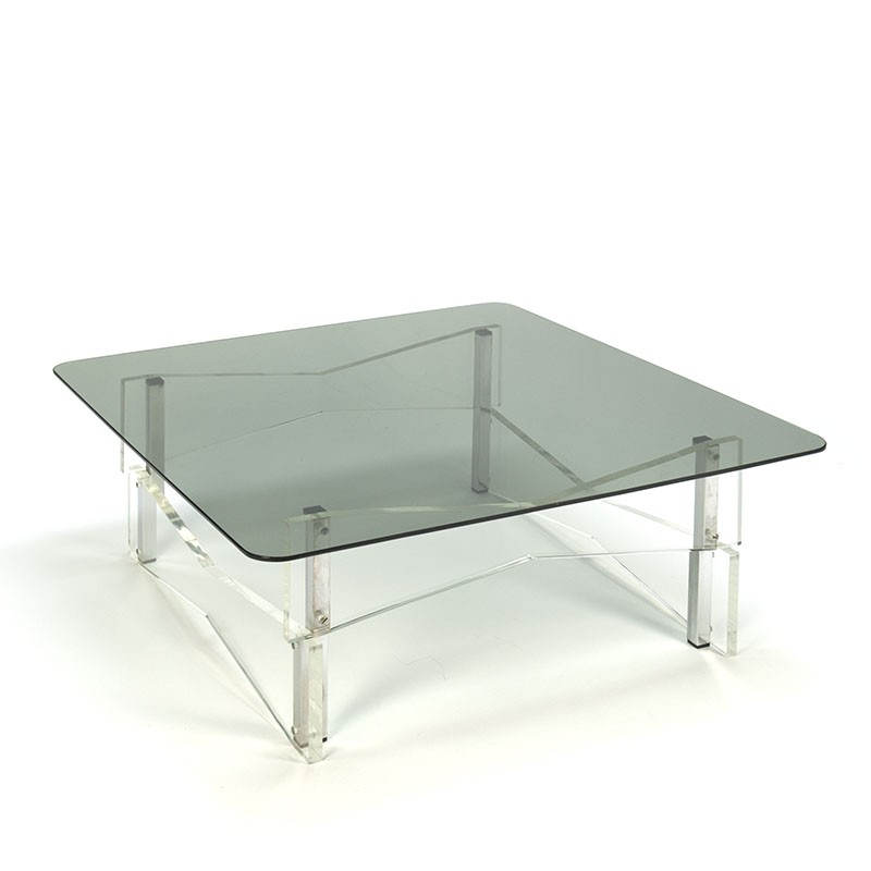 Plexiglass vintage corner or coffee table
