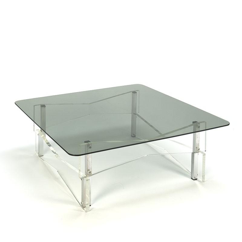 Plexiglazen vintage hoek of salontafel