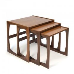 Teak vintage set of nesting tables by G Plan