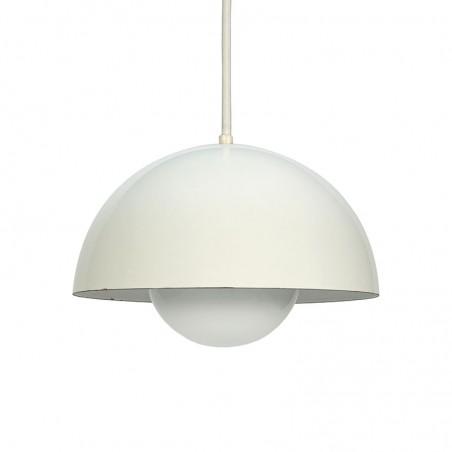 Vintage Flowerpot white design Verner Panton for Louis Poulsen