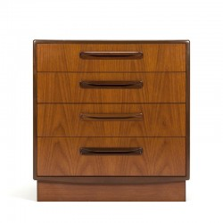 Teak vintage chest of drawers design Victor Wilkins