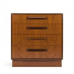 Teakhouten vintage ladekast design Victor Wilkins