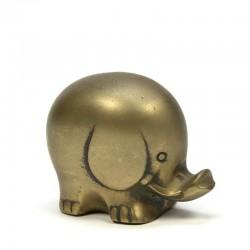 Small vintage brass elephant