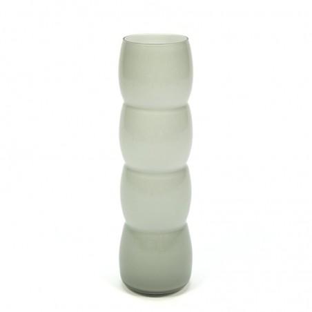 Vintage glass gray vase