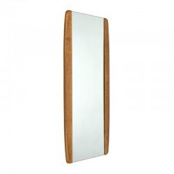 Vintage mirror with teak edge 1960's