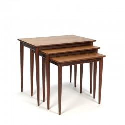 Teak vintage Danish set of side tables