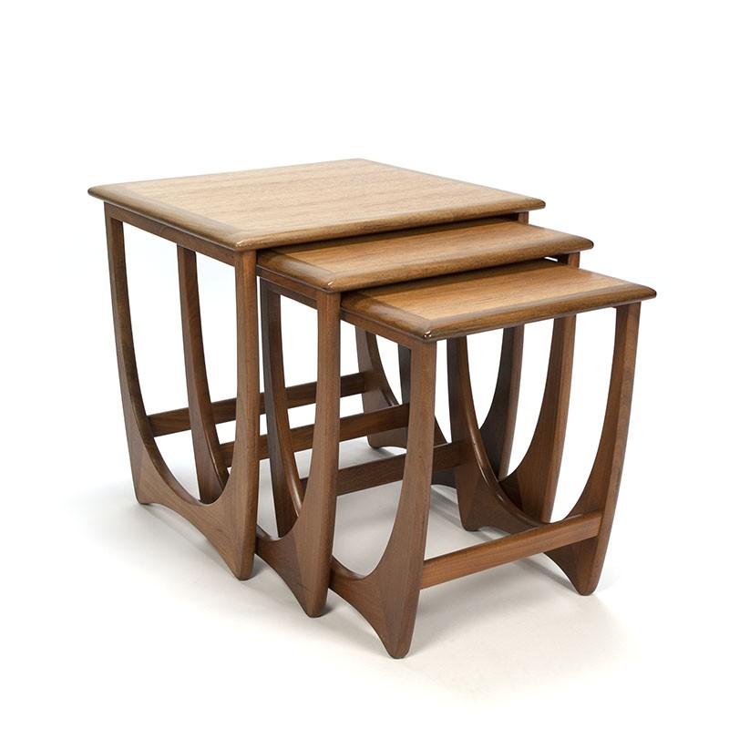 Set vintage side tables from the Fresco series design V. Wilkins
