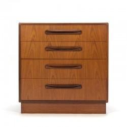 Vintage teak chest of drawers design Victor Wilkins