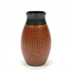 Orange / brown West-Germany vase vintage