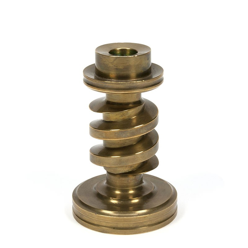 Vintage candlestick from solid brass