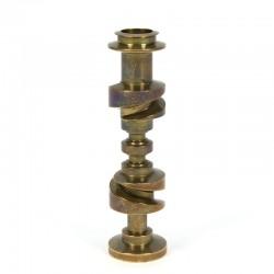 Decorative solid brass vintage candlestick