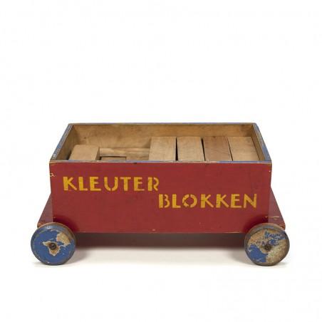 Vintage ADO Kleuter Blokken kar ca. 1935