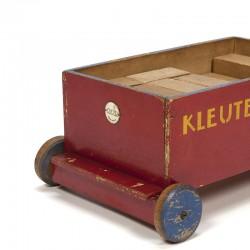 Vintage ADO Kleuter Blokken cart ca. 1935