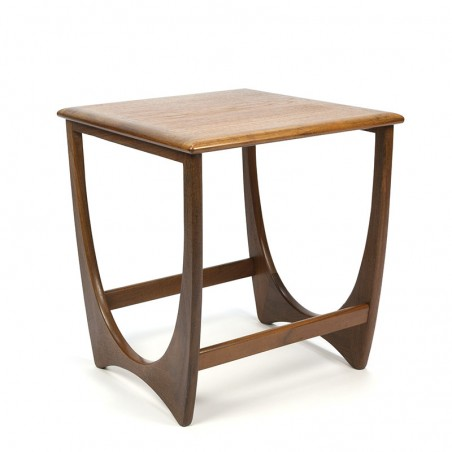 English vintage side table in teak