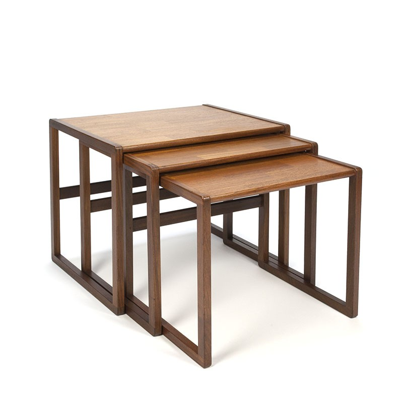 Teak vintage nesting tables from the sixties