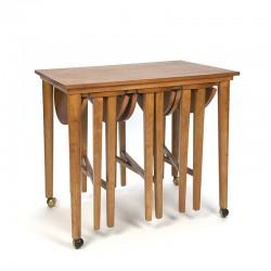 Vintage nesting tables design Poul Hundevad