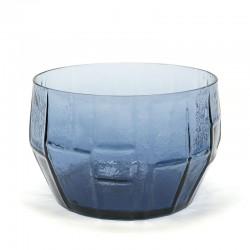 Scandinavian vintage blue glass bowl