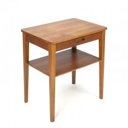 Teak vintage bedside table or side table
