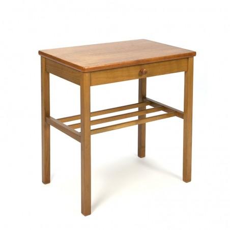 Teak vintage side table or bedside table