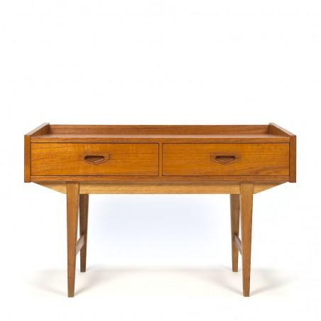 Swedish vintage teak low model chest of drawers
