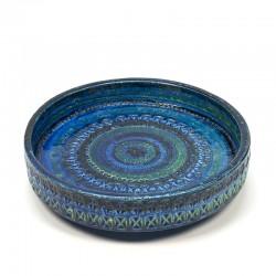 Vintage Aldo Londi Rimini Blue schaal voor Bitossi