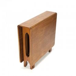 Vintage teak drop leaf dining table design Bendt Winge
