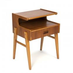 Vintage bedside table in teak from Sweden