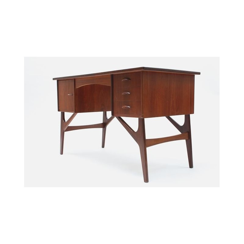 Scandinavian desk in teak