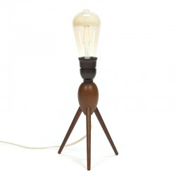 Danish table lamp with 3 legs in teak vintage