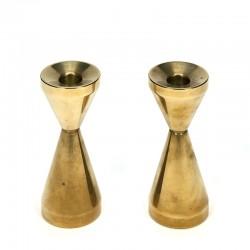 Vintage set of 2 solid brass candlesticks